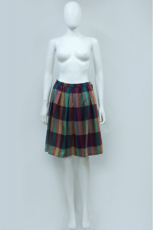 90s Wool Stripe Skirt