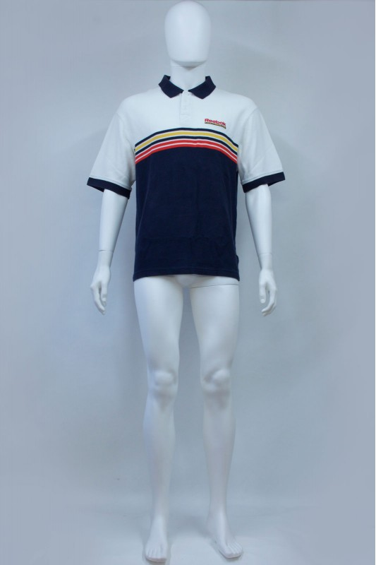 90s Reebok Striped Polo Tshirt