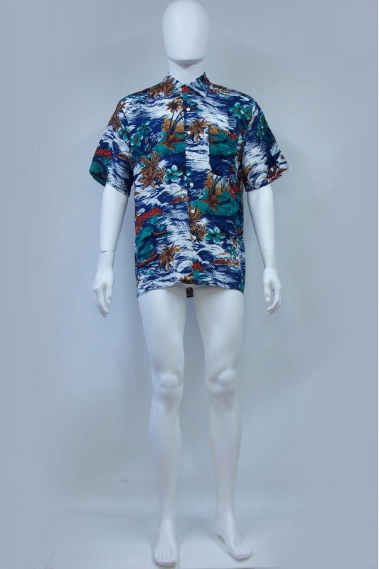 90s Burtons Hawaiian Palm Tree print Shirt