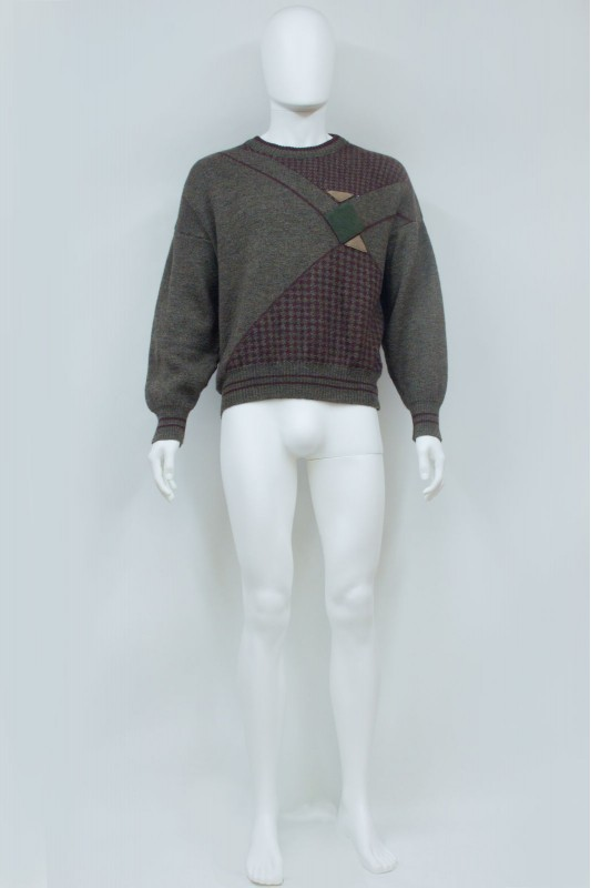 90s Country Hunting Style Patch Jumper