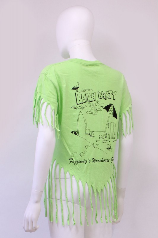 Reworked Beach Party Print Tassle USA TShirt