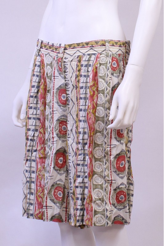 Vintage Aztec Pint High Waist Culottes Shorts