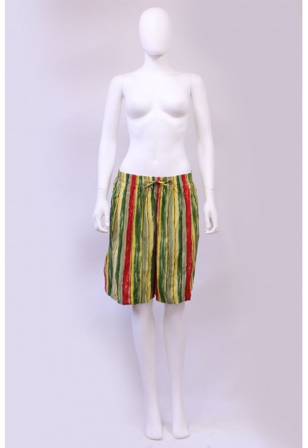 Vintage Womens 90s High Waist Candy Stripe Culottes Shorts