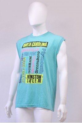 Vintage North Carolina Neon Print Vest Top