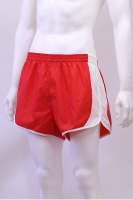 Vintage Red Nylon Sprinter Shorts 32W - 34W