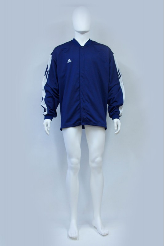 90s Adidas Blue Collarless Track Jacket