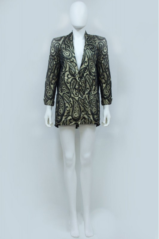 80s 90s Sparkly Paisley Evening Blazer