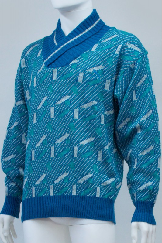 Vintage Puma Shawl Neck Knit Jumper