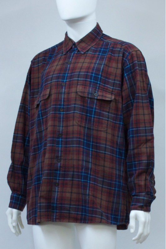 90s Flannel Shirt Burgundy