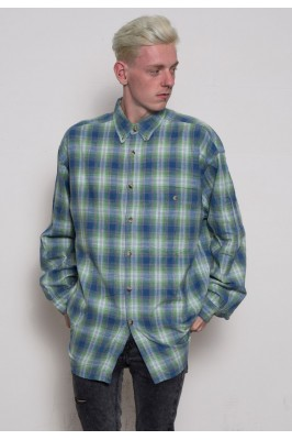90s Oversized Check Shirt